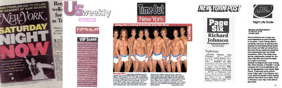 Male strippers press reviews from bachelorette parties.
